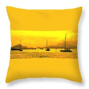 Towards Nevis Throw Pillow