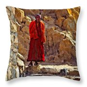 Towards Nirvana Impasto Throw Pillow