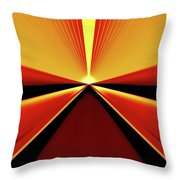 Towards The Streaking Sunrise Throw Pillow