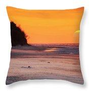 Towards The Sunset Throw Pillow
