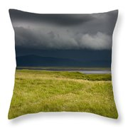 Towards Vatnajokull Throw Pillow