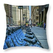 Towards Wrigley Building Throw Pillow