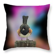 Towee On The Post Throw Pillow