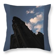 Tower And Clouds Throw Pillow