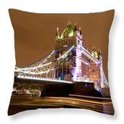 Tower Bridge Evening Throw Pillow
