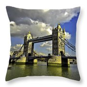 Tower Bridge I Throw Pillow