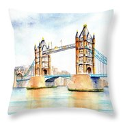 Tower Bridge London Throw Pillow