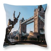 Tower Bridge, London, Uk Throw Pillow