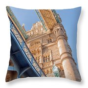 Tower Bridge Perspective Throw Pillow