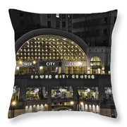 Tower City Close Up Throw Pillow