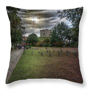Tower Gardens Throw Pillow