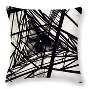 Tower Grid Throw Pillow