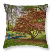 Tower Grove Arched Bridge And Maple Tree Dsc01828 Throw Pillow