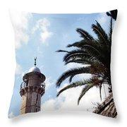 Tower In Jerusalem Throw Pillow