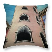 Tower In Lyon France Traboules Throw Pillow