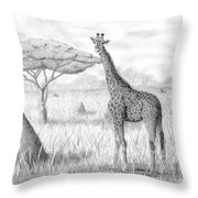 Tower In The Bush Throw Pillow