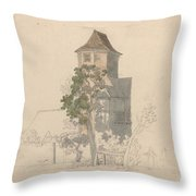 Tower Of A Fortified House [recto] Throw Pillow