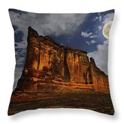 The Midnight Tower Throw Pillow