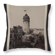 Tower Of Galata,  Throw Pillow