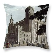 Tower Of London, 1799 Throw Pillow
