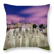 Tower Of London At Dawn Throw Pillow