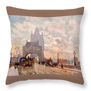 Tower Of London Bridge Throw Pillow