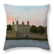 Tower Of London On The Thames Throw Pillow