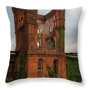 Tower Of Ruins Throw Pillow
