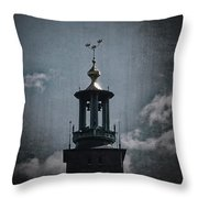 Tower Of Stadshuset  Throw Pillow