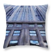 Tower Of Steel And Stone Throw Pillow