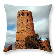 Tower Of Stone Throw Pillow