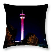 Tower Of The Americas October Night Throw Pillow