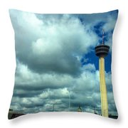 Tower Of The Americas Scene Throw Pillow