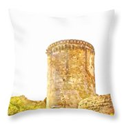 Tower Of The Castle Throw Pillow