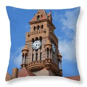 Tower Of The Decatur Courthouse  Throw Pillow