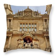 Tower Of The Five Orders Bodleian Library Oxford Throw Pillow