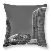 Tower Place Stripped Buckhead Atlanta Art Throw Pillow