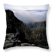 Tower Ridge From Ben Nevis Summit Fort William Lochaber Invernesshire Scotland Throw Pillow