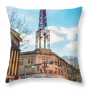 Tower Theater - Upper Darby Pa Throw Pillow