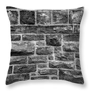 Tower Wall Black And White Throw Pillow