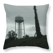 Tower With Intersecting Lines I Throw Pillow