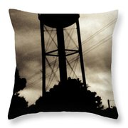 Tower With Intersecting Lines II Throw Pillow