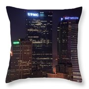 Towering Buildings Of Pittsburgh Throw Pillow