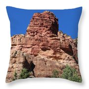 Towering Cliff Throw Pillow