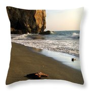 Towering Cliffs On Ocean Front Throw Pillow