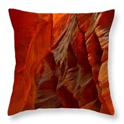Towering Fiery Walls Throw Pillow