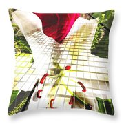 Towering Lily And Rose Throw Pillow