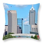 Towering Over Indy Throw Pillow
