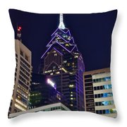Towering Over Philly Throw Pillow