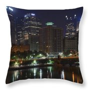 Towering Over The River Throw Pillow